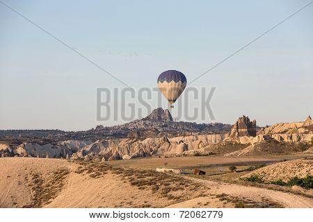 Cappadocia Turkey.The greatest tourist attraction of Cappadocia the flight with the ball