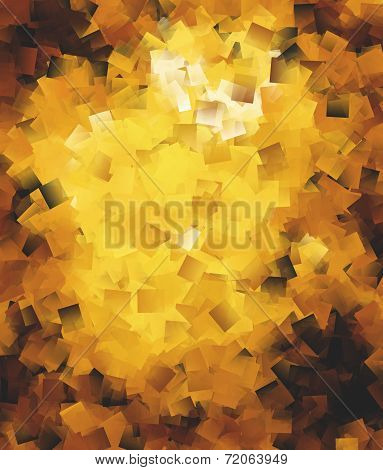 Abstract Square Brushes In Golden Spectrum