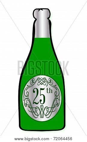 25Th Celebration Wine Bottle