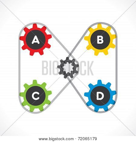 creative industrial gear info-graphics design vector