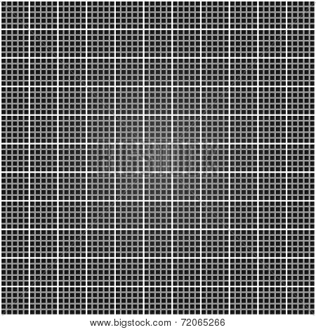 Metal lattice. Square grid vector illustration