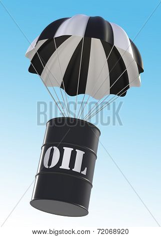 Oil Drum And Parachute