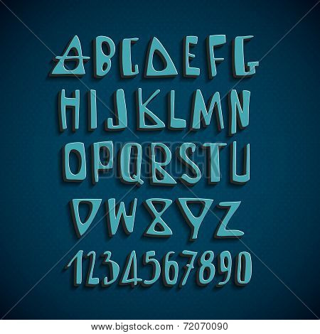 Hand Drawn Vector English Alphabet Letters