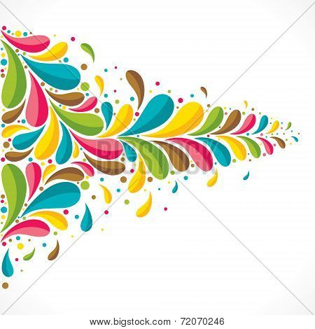 creative colorful flora or fauna background