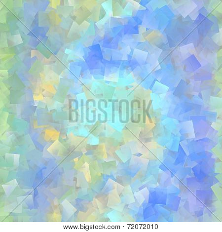 Beautiful Cubist Mosaic In Pastel Colors