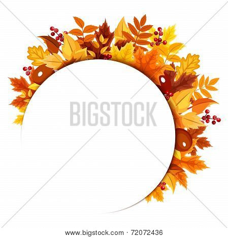 Background with autumn leaves. Vector illustration.