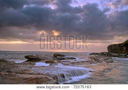 Stormy Sunrise Beach