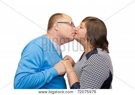Husband Kisses His Wife