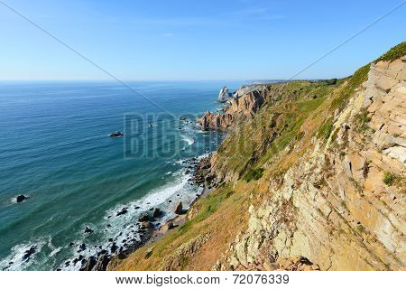 Seascape of Cabo da Roca, Sintra, Portugal