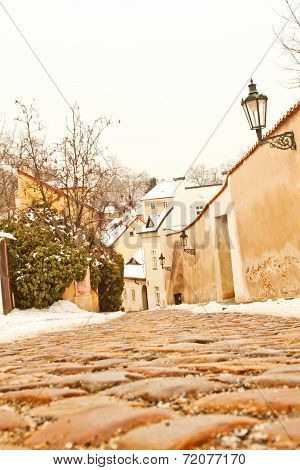 Beautiful Street In Prague, Czech Republic