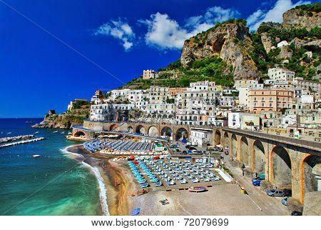 Italian holidays - breathtaking  Amalfi coast, Atrani village