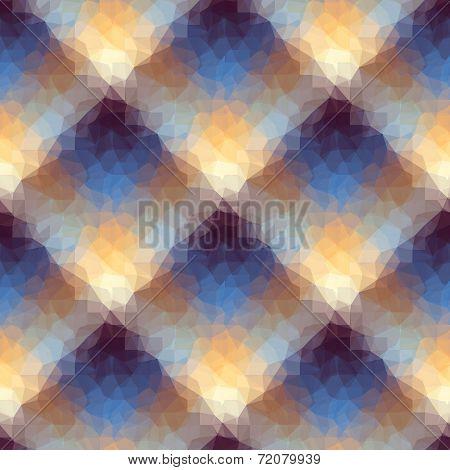 Geometric diagonal plaid.