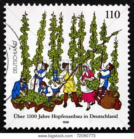 Postage Stamp Germany 1998 German Cultivation Of Hops