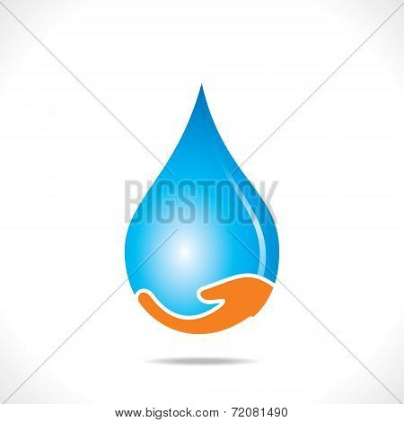 save water concept or symbol vector