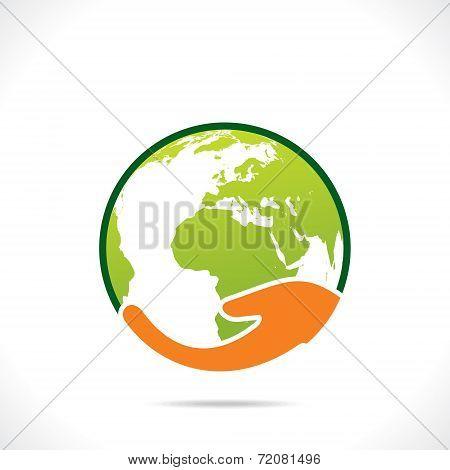 save earth or go green earth symbol concept vector