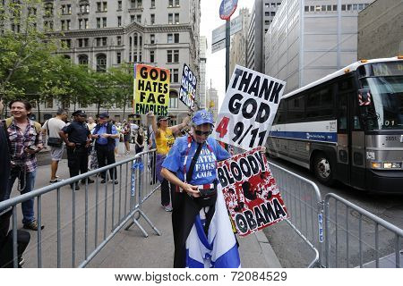 Texting while picketing