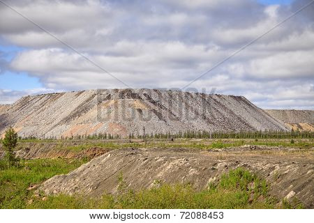 Burrows Nearby Open Mine Looking Like Real Hills And Showing Impact On Nature