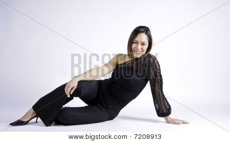 Woman Sitting Sideways