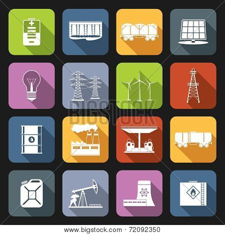 Energy Icons Flat Set