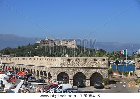 Antibes, France - Aug 27, 2014: Fortress Of Port Vauban