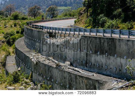 Highway in ruins