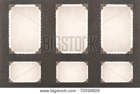 Photo Frames With Corner. Retro Style Photo Album Page