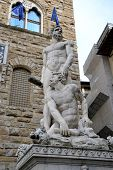 stock photo of perseus  - Hercules and Cacus, Piazza della Signoria - Florence