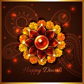 foto of diwali  - Vector happy diwali background - JPG