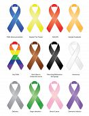 foto of leukemia  - Variety of ribbons with a drop - JPG