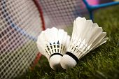 picture of badminton player  - Badminton shuttlecock - JPG