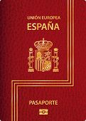 picture of passport cover  - vector biometric Spanish passport - JPG