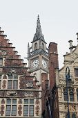 image of gents  - Ancient ornate bulinding in Gent - JPG