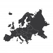 image of continent  - An Outline on clean background of the continent of Europe - JPG
