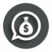 pic of currency  - Money bag sign icon - JPG