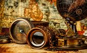 pic of treasure map  - Vintage grunge still life - JPG