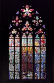 Stained-glass Window In St Vit Cathedral, Prague poster