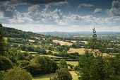 picture of arthurian  - View towards Glastonbury Tor from Cheddar Gorge - JPG