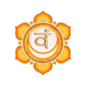 image of tantra  - Illustration of a orange sacral chakra mandala - JPG