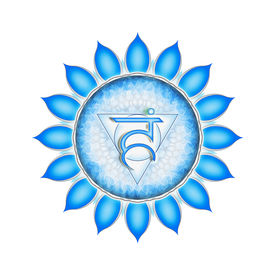 picture of tantra  - Illustration of a blue throat chakra mandala - JPG