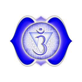 stock photo of tantra  - Illustration of a blue brow chakra mandala - JPG