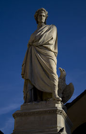 picture of alighieri  - Statue of Dante Alighieri in Santa Croce