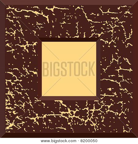 Brown grunge vector frame