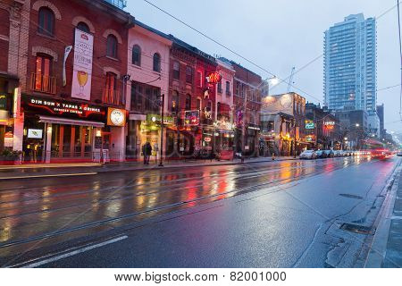 King Street East In The Evening