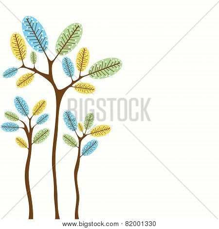 abstract tree banner design vector