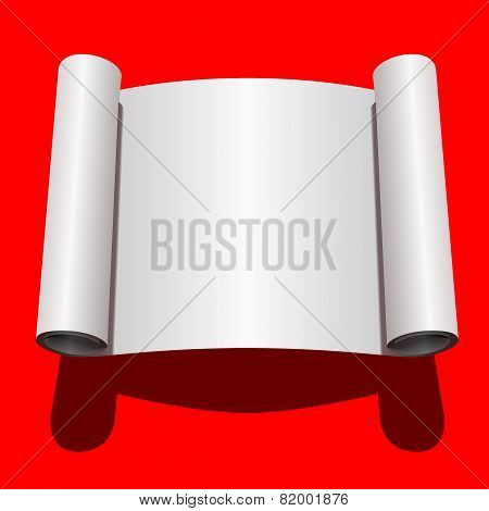 Roll of Blank White Paper. Vector Illustration