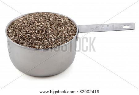 Chia Seeds In A Cup Measure