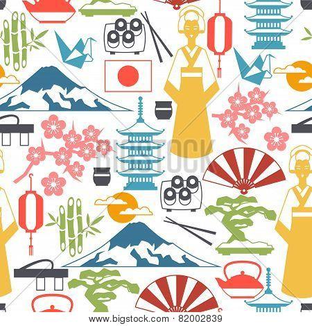 Japan seamless pattern.