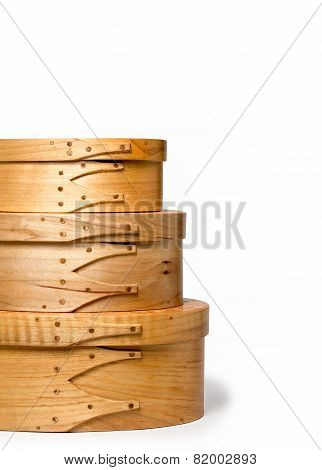 Craftsmanship - Details Of Stacked Hand Made Shaker Boxes