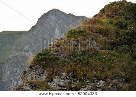Mountain Slopes In The Caucasus