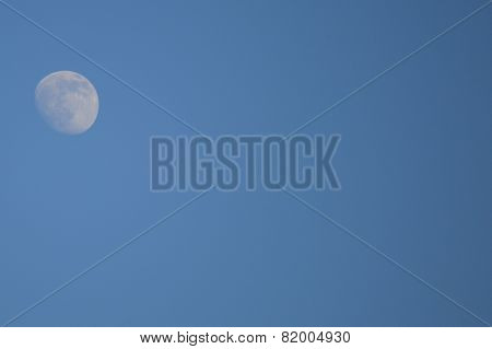 The moon in the evening sky